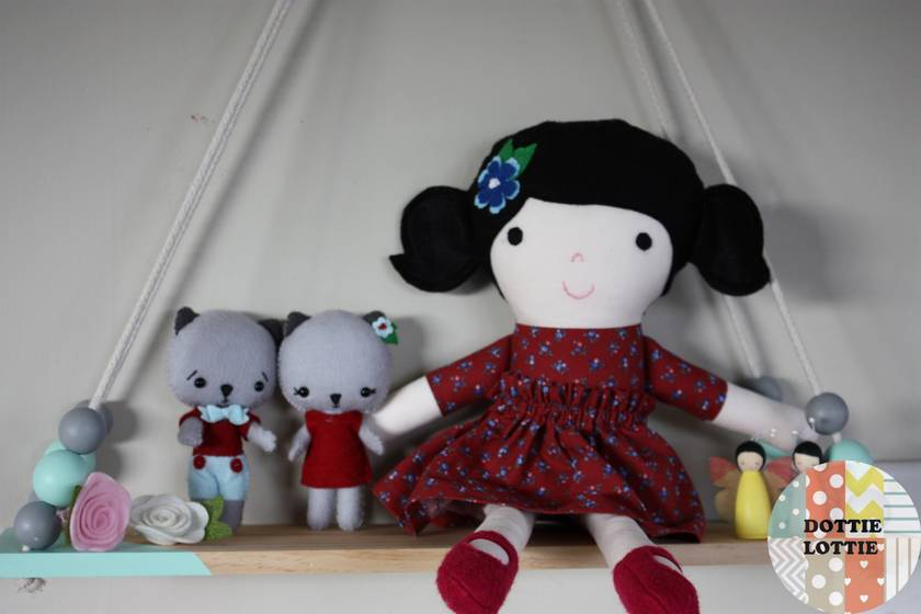Floral Fabric Doll