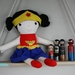 Wonder Woman Inspired Fabric Doll
