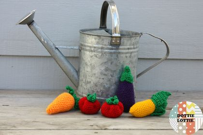 Crocheted Vegetable Set