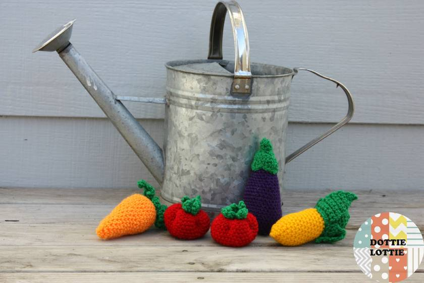 Crocheted Vegetable Set