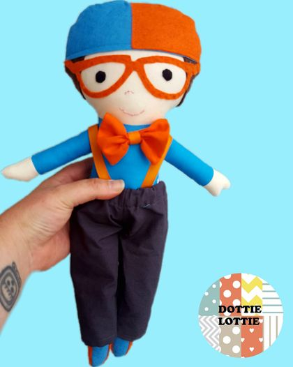 Blippi Inspired Fabric Doll