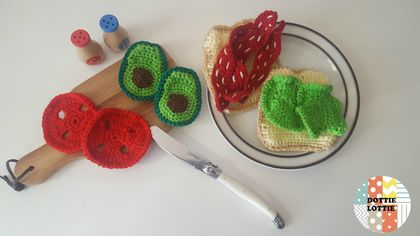 Crocheted BLT Play Food Set