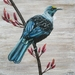 New Zealand Tui Bird, A4 Print