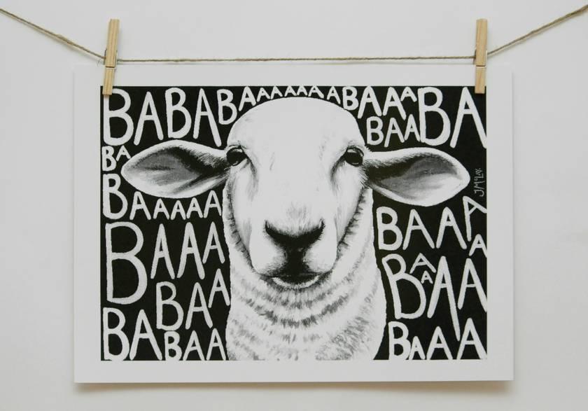 Baa Sheep Black and White