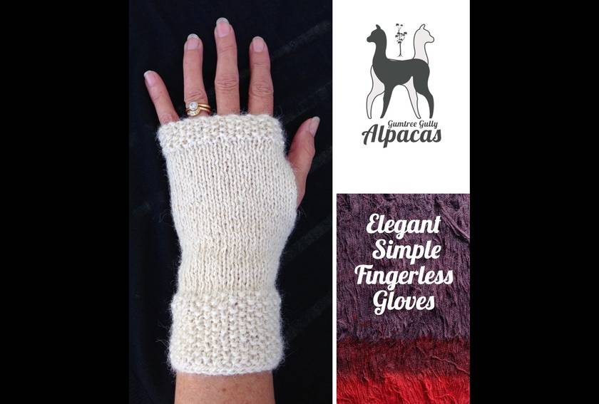 Elegant Fingerless Gloves - Moss