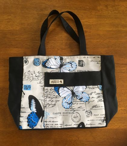 FRENCH BUTTERFLY TOTE/PROJECT BAG