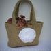 Hessian flower girl bag
