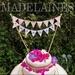 Floral vintage MR & MRS wedding cake topper
