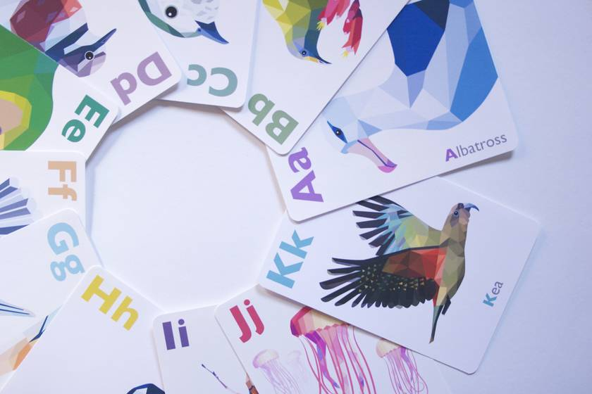 Alphabet Cards Abc Flash Cards New Zealand Abc Cards New Zealand