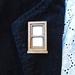 Wooden window frame brooch