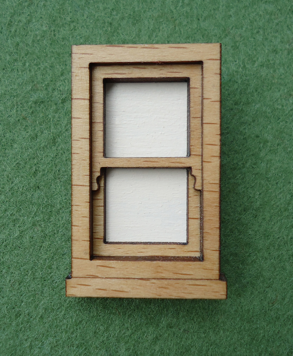 Wooden window frame brooch | Felt