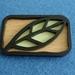 Beechwood leaf brooch