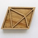 Geometric brooch - oak and beechwood