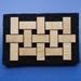 Weave pattern brooch - beechwood and felt