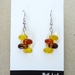 Yellow / orange dangly glass earrings