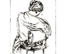 Woman with Shawl etching