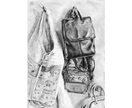 'Bags' original pencil drawing