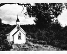 'Nestled Church' original charcoal drawing