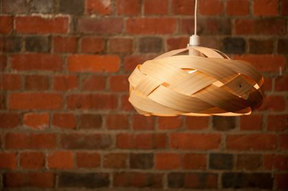 Wood veneer light shade - Braid