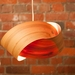 The Twist - wood and copper light shade