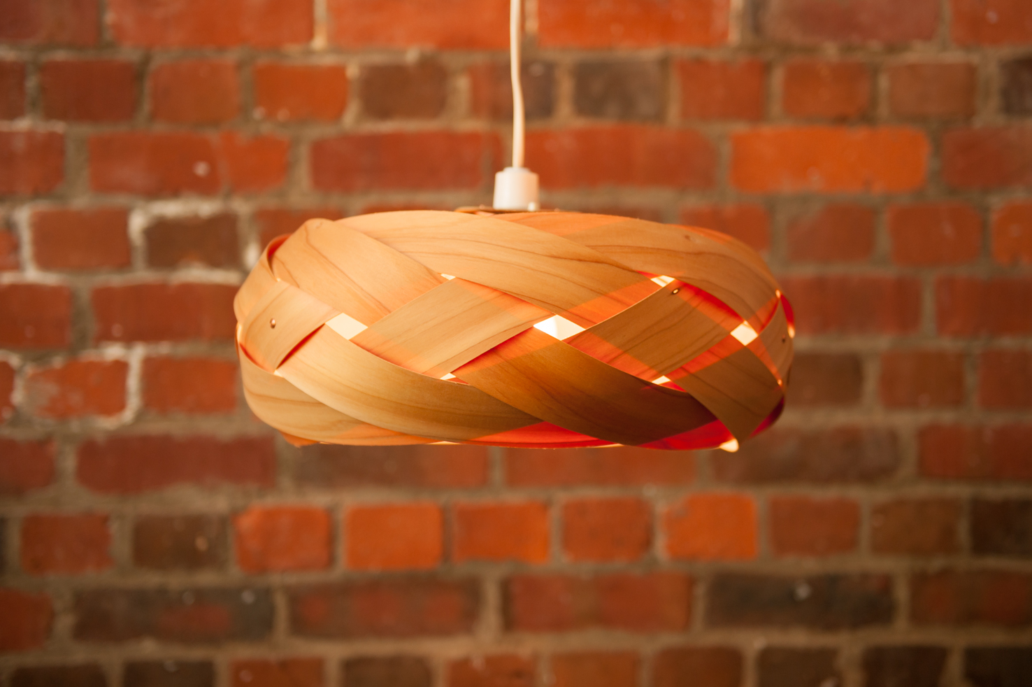 The Braid Wood And Copper Light Shade Felt