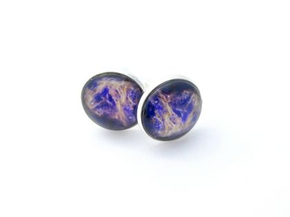 Cosmic Cufflinks- Astronomy Glass Cabochon Cufflinks- 18mm/0.71in. Gas Bullet from Cosmic Blast