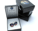 Nebula Cufflinks- Astronomy Glass Cabochon Cufflinks- 18mm/0.71in. Dust Pillar of the Carina Nebula