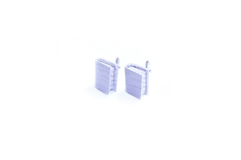 Miniature Book Cuff Links - Small Literature Jewellery - Cream/ Off White Leather Bound - Wedding Accessory - Groomsmen