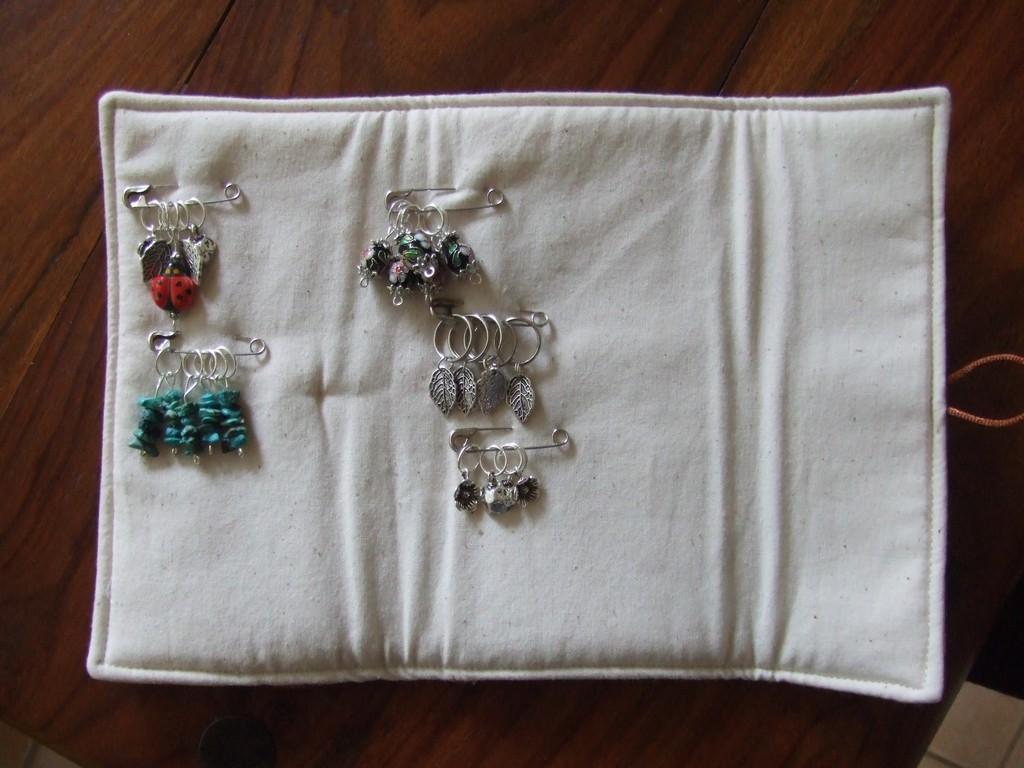 Knitting Put Stitches On Holder : Knitting Stitch Marker Holder Felt