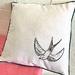 Swallow Print Cushion Cover