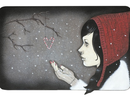 'Snowflakes and Candy Canes' - Limited edition giclee print by Andy McCready