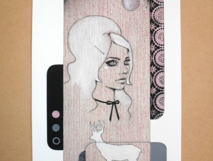 'Pink Snow' - Limited edition giclee print by Andy McCready