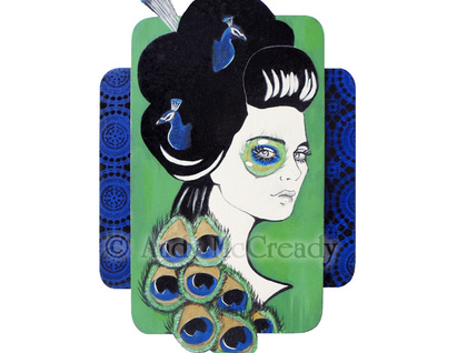 Plumage - Small limited edition giclee print by Andy McCready