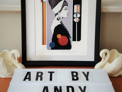 'Civic Plaza Pop (Here I Give Thanks to M)' - Small limited edition giclée print by Andy McCready