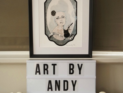 'Black and Blue' - Small limited edition giclée print by Andy McCready