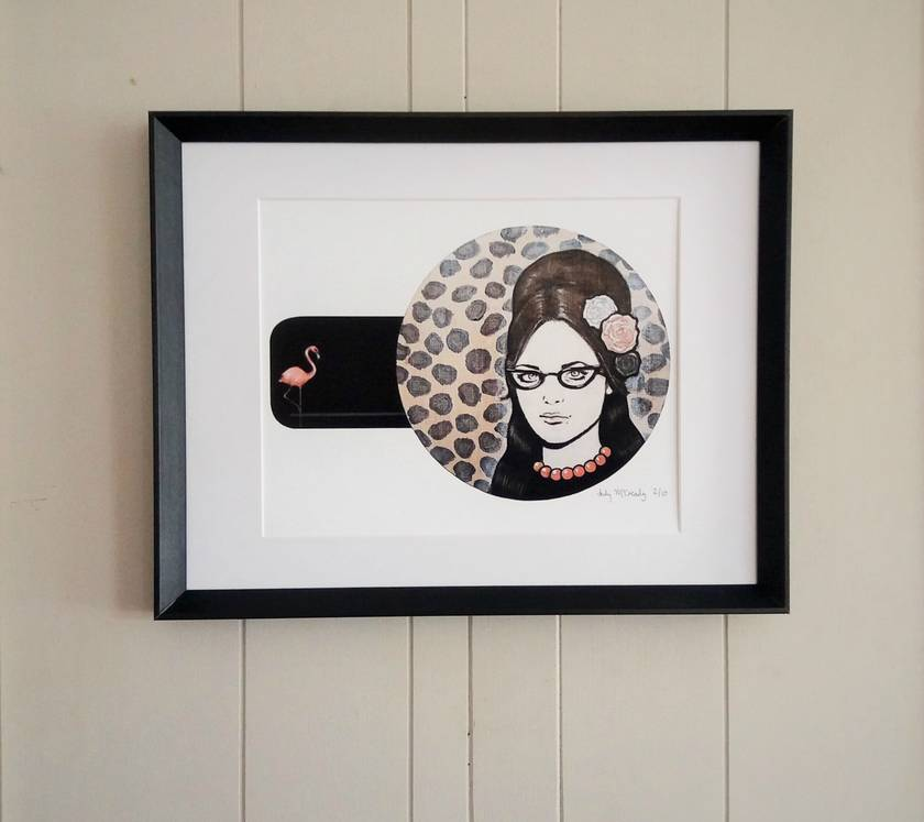 'Leopard Print Luau' - Small limited edition giclée print by Andy McCready