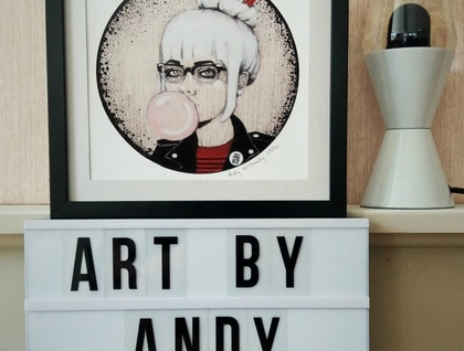 'Ramona' - Small limited edition giclee print by Andy McCready