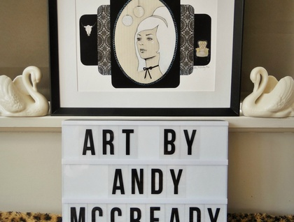 'Mild West' - Small limited edition giclee print by Andy McCready
