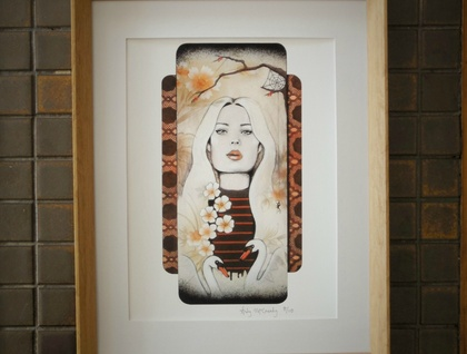 'Swan Dive' - Small limited edition giclée print by Andy McCready