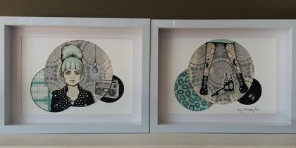 'On My Radio' - Small limited edition giclee print set by Andy McCready