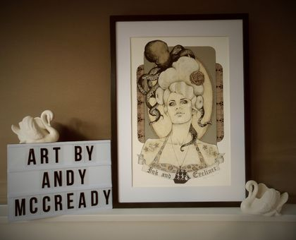 'Ink and Eyeliner' - Limited edition giclee print by Andy McCready