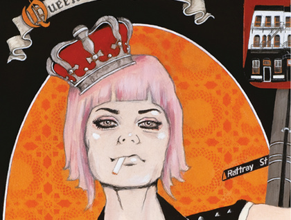 'Queen of the Crown' - Limited edition giclee print by Andy McCready