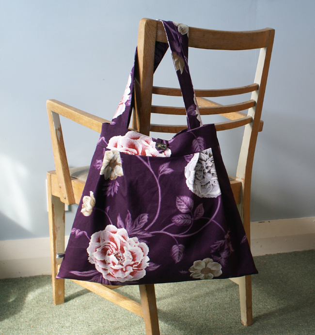 Purple makes me feel like smiling tote bag felt for Purple makes you feel