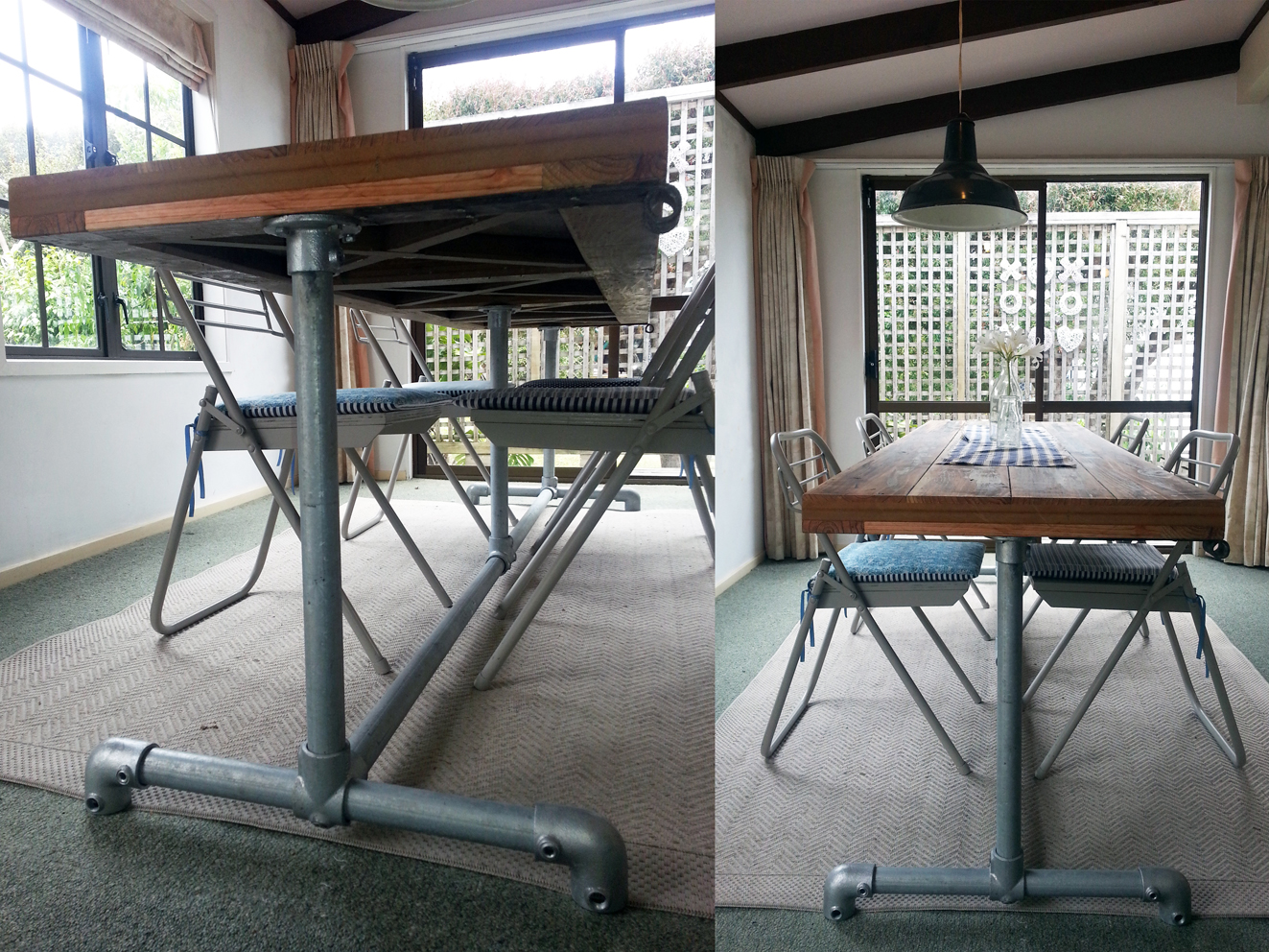 INDUSTRIAL DINING TABLE timber top amp pipe legs Felt : o from felt.co.nz size 1323 x 992 jpeg 1054kB