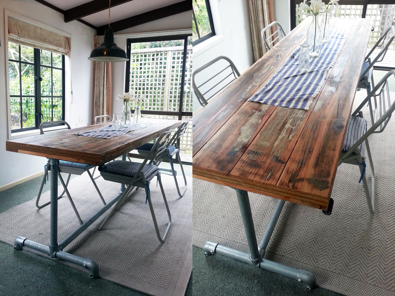 INDUSTRIAL DINING TABLE timber top amp pipe legs Felt : o from felt.co.nz size 1323 x 992 jpeg 1159kB