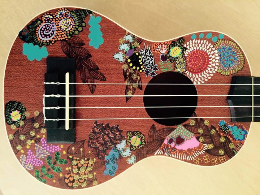 """""""Flower Power"""" hand painted ukulele"""