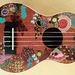 """Flower Power"" hand painted ukulele"