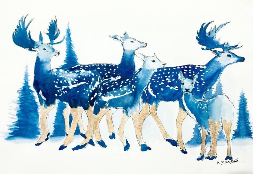 Blue deers