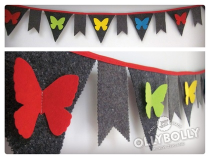 **SALE** Rainbow Butterfly Bunting