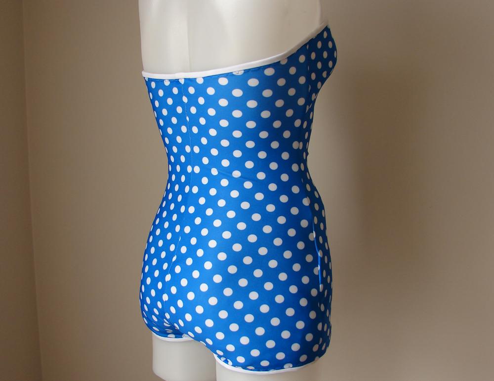 Blue polka dot swimsuit felt for Polka dot felt fabric